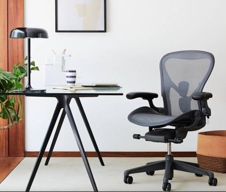 an Aeron chair in an office